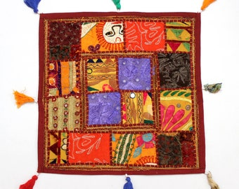 Handmade Hippie Gypsy Home Decor Ethnic Multi color Embroidered Hippy Patchwork Bohemian Pillow Shams Couch Cushion Cover Case G819