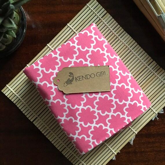 Furoshiki Gift Wrapping Cloth - Japanese Cotton Furoshiki - Pink Floral Design by Kendo Girl