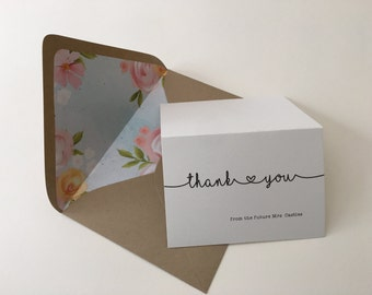 Baby or Bridal Shower Thank You Cards