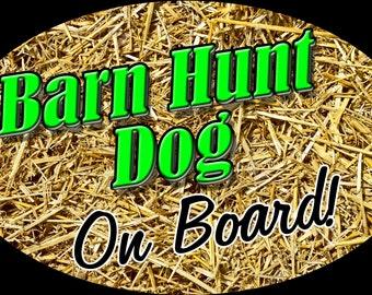 Barn Hunt Dog on Board