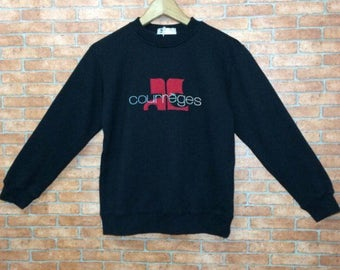 Rare!!! Courreges Sweatshirt pullover courrèges Embroidery Big Logo NWT jacket
