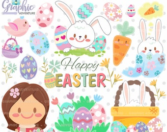 75%OFF - Easter Clipart, Easter Graphics, Clip Art, COMMERCIAL USE, Kawaii Clipart, Spring Clipart, Planner Accessories, Spring Party