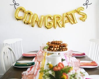Gold Congrats Banner, Perfect for your Graduate