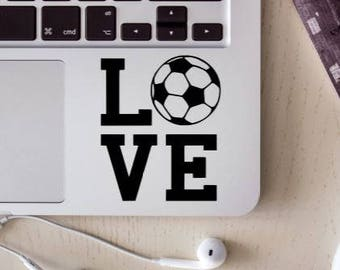 soccer decal, love soccer, soccer sticker, car decal, soccer car decal,