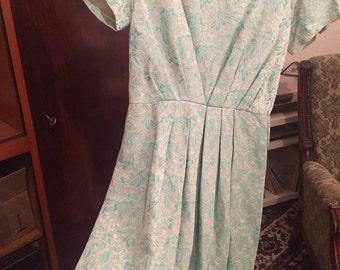 True vintage 60s dress mint green glamour