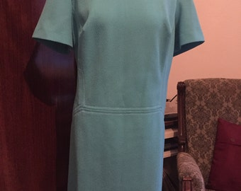 Plus size 60s dress in light blue