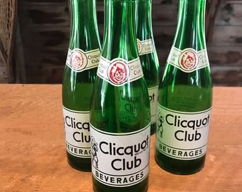 7 oz. Clicquot Club Soda bottle -1950's