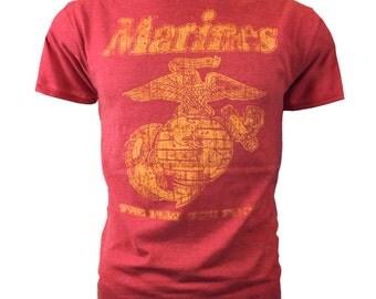 "Black Ink Men's Marines T-Shirt - US Marines Classic ""The Few The Proud"" (BT1019)"