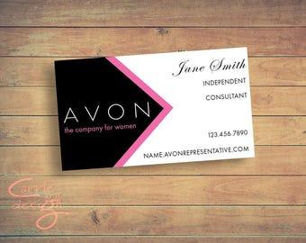 Avon Sales Representative Business Card Digital Design/ Customized