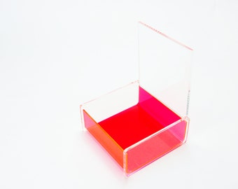 "Tandra -  Falken Design Lucite boxes with hinged lids Box: 5""x4""x3"""