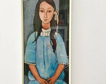 Vintage Modigliani print entitled Alice not a modern reproduction