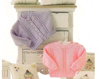 d13f20aa349d3 Baby Sweater   Cardigans Knitting Pattern UKHKA 134 Knitting Pattern