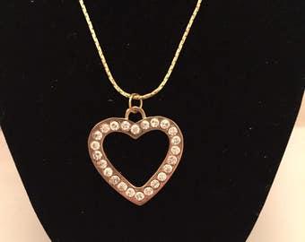 Golden Heart Pendant Necklace