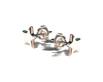 Jules Mini-Star Earrings, sterling silver