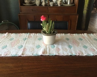 Vintage two sided southwestern table runner