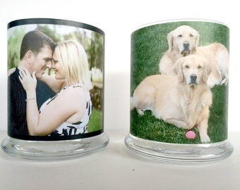 Photo candle holder, Photo vase, Photo gift, Custom photo candle holder, Personalized candle, Gift for her,Gift for him,Valentine photo gift