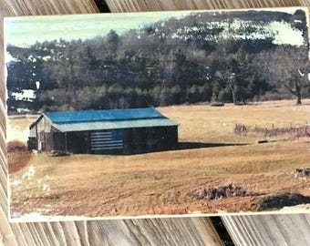 Old Barn Photo - American Flag Barn - Wood Photo - Rustic Barn Photo - Rustic Photo - West Virginia Barn