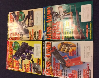 Vintage Lot of 1990's Guns and Ammo Magazines