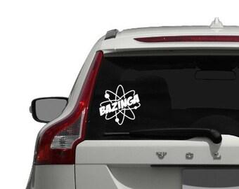 The Big Bang Theory Bazinga - Vinyl Sticker, Vinyl Decal - Car Decal, Laptop Sticker, Window or Bumper Sticker