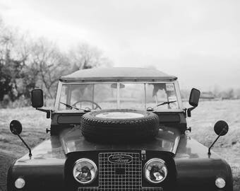 Land Rover Series 2 Black and White