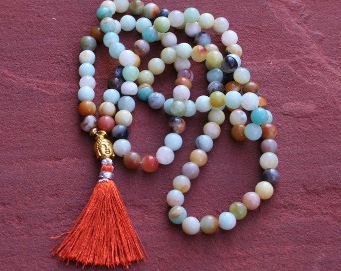 Hiresh small dark Buddha Mala, Malas, Japa Mala, 108 Bead Mala, Mala Mala, Mantra Recitation, Yoga Jewelry, Bead Pearls, Long Necklace, Buddha Jewels
