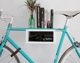 Bicycle wall mount 'Oscar' of wood. Bikeshelf | Bike rack