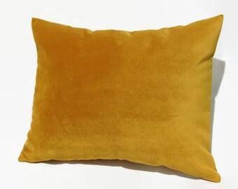 Mustard Pillow, Mustard Velvet Pillow, Mustard Velvet Bed Pillow, Mustard Velvet Pillow Cover, Mustard Velvet Decorative Pillow