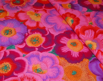 Kaffe Fassett Floral Fabric - Gloxinias PWPJ071  - Phillip Jacobs for Rowan - CT884424182241- 100% Quality Cotton by the Yard