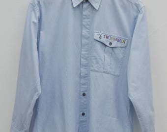 TRUSSARDI Shirt Vintage Trussardi Made In Japan Button Down Shirt Size 3