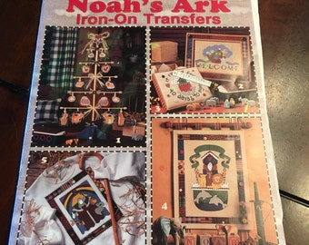 Noah's ark iron on transfers, unused