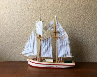 Vintage Wood Annapolis Souvenir Ship