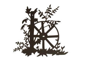 Wagon Wheel, Wagon Wheel Wall Sign, Black Wagon Wheel