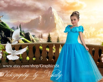 Digital background photography backdrops | For your little princess girls fairy & baby boys photo props  Chambord castle