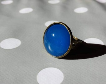 Deep blue ring