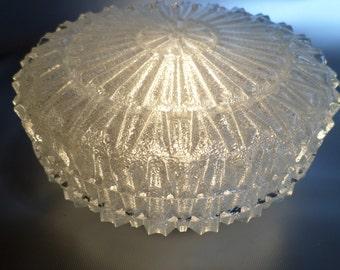 Vintage ceiling lamp wall lamp ceiling light * * * deckenleuchte * * the deckenlampe * ceiling light ceiling lamp * glass lamp, original 1950s