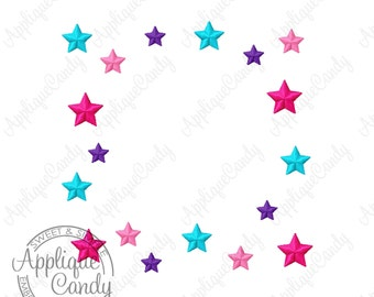 Star Frame Machine Embroidery Design 4x4 5x5 6x6 Nautical Star Punk Rock INSTANT DOWNLOAD