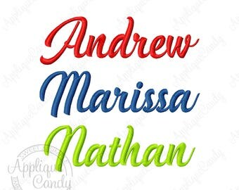 Custom Name Machine Embroidery Design Handycheera Font (not whole font)