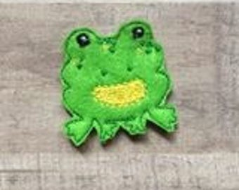 Frog Feltie Embroidery Design