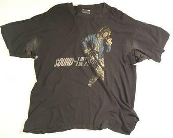 Thrashed David Bowie Sound I Vision t shirt