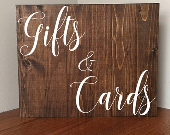 Gifts and Cards Sign//Rustic Gifts and Cards Sign//Wedding Sign//Rustic Wedding//Rustic//Any Size