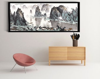 Chinese Traditional Painting Reprint, Asian Art, Art Poster, Poster Wall  Art, Office