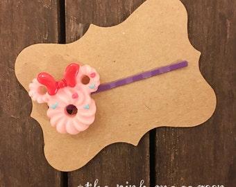 Pink Donut Kawaii Bobby Pin, Pink Kawaii Hair Clip, Pink Kawaii Bobby Pin, Pink Donut Hair Clip