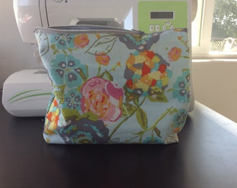 Makeup bag, cosmetic pouch, clutch, tote with zipper, luggage insert