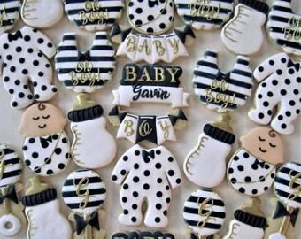 Baby Boy shower cookies/Baby boy new arrival cookies