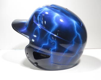 Custom Airbrushed Batting Helmet with Name on Back (New Helmet Included)