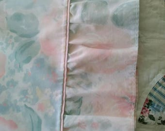 Vintage, Martha Stewart, Watercolor, Pastel, Roses (Standard) Pillow Case with Ruffle