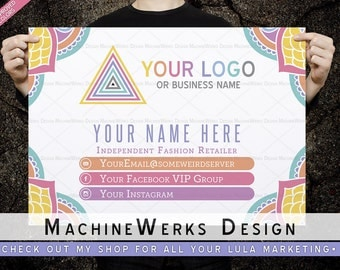 LuLa Banner 2.5' x 4' • Home Office Approved Fonts and Colors • LuLa Marketing Materials • LLR • MachineWerks