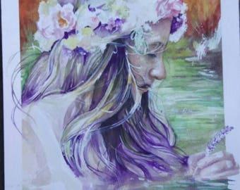 Original Watercolour Painting - Drifting thoughts - Rhianna Catt