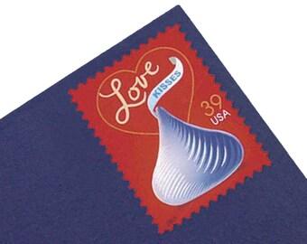 20 Love Kisses Postage Stamps - 39c - Unused - Quantity of 20