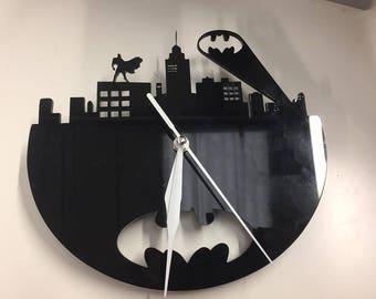 Laser Cut Acrylic Batman Inspired Wall Clock